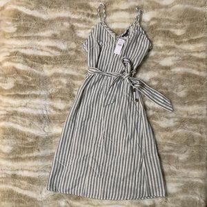 Blue White Striped American Eagle Midi Dress